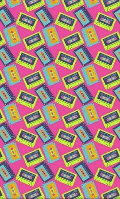Mixed tape wallpaper