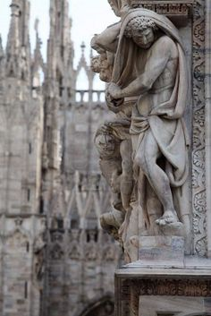 Milan Cathedral Duomo, province of Milan, Lombardy region Italy Gothic Architecture, Beautiful Architecture, Architecture Details, Milan Cathedral, Cathedral Church, Sculpture Art, Sculptures, Place Of Worship, Kirchen