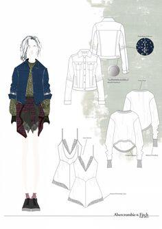 Fashion Portfolio - fashion design drawings; fashion sketchbook // Emma Louise Williams