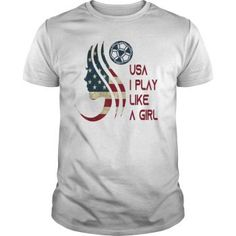 285e1e33bf4 Funny Women Soccer USA Team T-shirt I play like a girl 2019