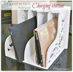 100 Things 2 Do – Magazine rack turned Charging Station