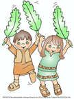 Palm Sunday Bible Color Sheet for Sunday School