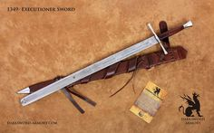 The German Executioner Medieval Sword is Hand Forged in Canada by Darksword Armory inc. Historically accurate, Hand Forged :: Combat Ready Swords and armors :: for Serious Collectors and Reenactment groups      5160 High Carbon Steel  Total length: 44.5  Blade length: 35  Blade width at base: 2 1/4  Weight: 3 lbs. 9 oz.    http://www.youtube.com/watch?v=1VYqeWKSUz8      Late 17th century – German. Original found in the Medieval Crime Museum (Mittelalterliches Kriminal...
