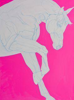 "Saatchi Art Artist: Yaheya Pasha; Acrylic 2012 Painting ""Porcelain & Pink"""