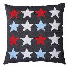 Boy's Blue Stars Pillow
