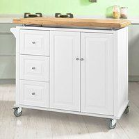 SoBuy® Luxus-Carrito de cocina, estantería de cocina, Carro de cocina, L102xP50xA96cm, FKW30-WN.ES