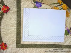 A solution for quilting a skinny inner stop border...