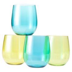 Target    $9.99 Online Price  Cool Tone Wine Glasses- Set of 4