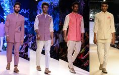 Indian Fashion Trends: Pink is in for Indian men's Fashion. Manish Malhotra at Lakme Fashion Week - Summer Resort 2014.