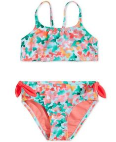 All-Over Print Kids Swimsuit 7 Size 2T Fruity Smiles Summer Fun