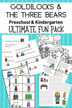Great Ideas & Resources! Discover Books, Thematic Units, Educational Toys, & Printable Pack! Perfect for Preschool & Kindergarten Fairy Tale Units!  #activelearning #goldilocks #preschooltheme #kindergartentheme #languagearts #earlylearning #printable #threebears #homeschool #fairytales #handsonlearning