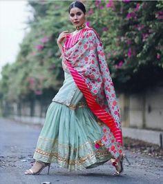 Fun and Love Filled Amazing Festive Season Outfit Idea - AwesomeLifestyleFashion A beautiful Pink Lehenga with Shirt Th. Shadi Dresses, Pakistani Dresses, Indian Dresses, Dress Indian Style, Indian Look, Ethnic Outfits, Indian Outfits, Stylish Dresses, Fashion Dresses