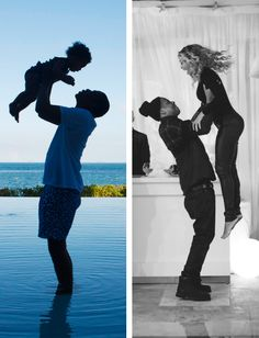 Jay-Z and Beyonce and Blue ivy