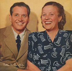Fibber Magee and Molly. Mom and I would listen to them on the radio. I never knew what they looked like!