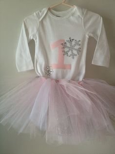 Winter Onederland Tutu Onesie Set Pink by LavenderLadybugsNY, $32.00