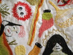 Embroidered monsters
