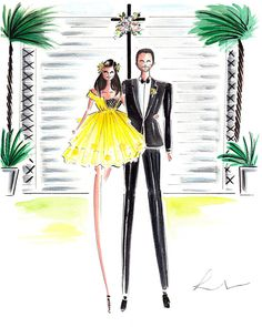This hand painted custom watercolor portrait will make an outstanding and cherished wedding or anniversary gift.