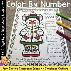 Five Christmas Critters Color By Numbers Advance Two Digit by Two Digit Multiplication Printables, Answer Keys Included. Your students will adore these Christmas Color Your Answer worksheets while learning and reviewing important skills at the same time! You will love the no prep, print and go ease of these printables. As always, answer keys are included. Christmas Color By Number, Christmas Colors, Fifth Grade, Second Grade, Two Digit Multiplication, Classroom Management Tips, Color By Numbers, 5th Grades, Elementary Schools