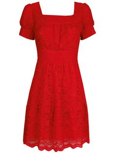 The most perfect dress in the world, ever!  Pearl Lowe red lace dress <3