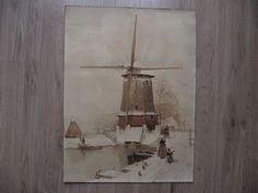 tableaux peinture ancien auqarelle ou dessin sur papier signé (non) XX in Art, antiquités, Art du XIXème, et avant, Peintures, émaux | eBay