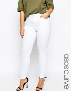 ASOS+CURVE+Ridley+Skinny+Jean+in+White