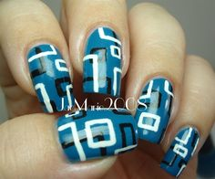 Retro Squares Nail Design - nailartgallery.nailsmag.com - Nail Art Gallery by NAILS Magazine