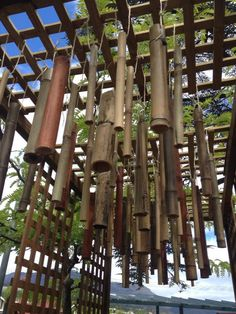 Looking up at the bamboo musical instrument -  shared by Child's Play Music ≈≈