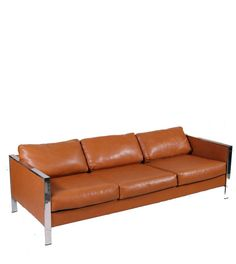 Milo Baughman Attributed Chrome and Vinyl Sofa by MotleyLA on Etsy