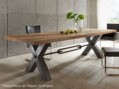 Art unforgettable loft solid wood computer desk and chair combination desktop retro old American wrought iron dining table ä… – Tables and desk ideas Metal Leg Dining Table, Industrial Style Dining Table, Rustic Industrial, Dining Tables, Distressed Furniture, Metal Furniture, Home Furniture, Distressed Wood, Wood Computer Desk