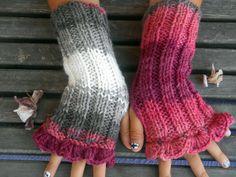 Colored Gloves,Handmade Gloves,Fingerless Gloves,Knit Mittens,Hand Warmer,Winter Gloves,Knit Long Gloves,Women Gloves,Arm Warmer,Gift Ideas