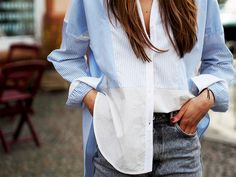 #shirting #shirts #sandroparis #oversize #oversized #stripes #blue #allblue #spring #trends #classic #classy #effortless #sophisticated #highwaist #momjeans #zara #office #business #ootd #streetstyle #berlin #helloshopping #fashionblogger #look #outfit #inspiration #fashiondiaries
