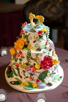 Little Insects Wedding Cake. Photo by Orange Photography by cakecoquette, via Flickr