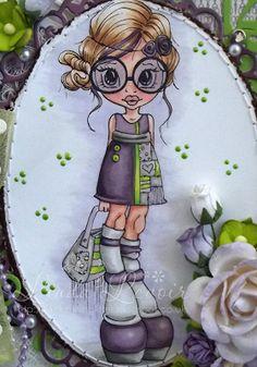 SWG Original Designs: Saturated Canary ~ Vintage Violet ~ Copics: Skin: E000, 00, 11, R20, 11 Hair: E50, 51, 53, 55 Clothing: V99, 95, 93, 91, YG06, 03, 00, W05, 03, 02, 0