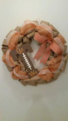 Vols Burlap Wreath