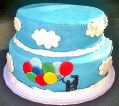 BabyShower silhouette cake!!!! #motherandson