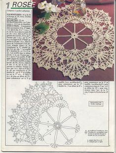 World crochet: Napkin 146 - Salvabrani Crochet Doily Diagram, Crochet Doily Patterns, Crochet Mandala, Crochet Art, Crochet Home, Thread Crochet, Filet Crochet, Crochet Motif, Crochet Dreamcatcher