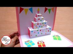 Beautiful Picture of How To Make Birthday Cake Pops . How To Make Birthday Cake Pops Diy Cake Pop Up Card For Birthday Easy Cards Diy Maison Zizou Birthday Card Pop Up, Birthday Cake Pops, Homemade Birthday Cards, Birthday Cards For Mom, Birthday Card Design, Birthday Crafts, Tarjetas Diy, Karten Diy, Pop Up Cards