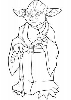 kolorowanka Yoda Star Wars - malowanka dla chłopców nr 24