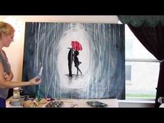 see|cate|create » inspiring you to live creativelyHow to Paint a Rainy Day Scene with Acrylics | Easy Wall Art