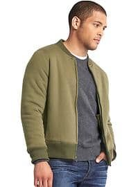 Sherpa-lined zip bomber by GAP