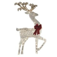 shop holiday living lighted mesh reindeer outdoor christmas decoration at lowes canada - Outdoor Christmas Reindeer Decorations Lighted