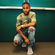Big Sean wearing the 'Turtle Dove' adidas Yeezy 350 Boost Camo Outfits, Casual Outfits, Summer Outfits, Casual Shoes, Winter Outfits, Big Sean, Fashion Killa, Mens Fashion, Runway Fashion