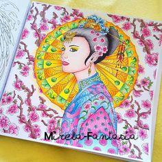 Fantasia Nicholasfchandrawienata Art E Colorir Divasdasartes Bayan Boyan Colorplaner Creativelycoloring Color Coloring Books