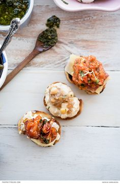 Easy DIY Bruschetta platter with roasted red pepper pate recipe and carmelised onion recipe | Recipe by Darren Bester