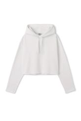 <p>The Korea Cropped Sweatshirt combinesa comfy sweatshirt feel with a playful cropped silhouette. It has a spacious hood with drawstrings, dropped shoulders and raw cut hemline.<br /><br />-Size Small measures 126 cm in chest circumference and 47,50 cm in front length. The sleeve length is 51,50 cm.</p>