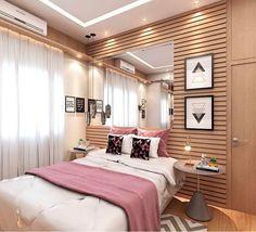 """9,105 curtidas, 45 comentários - SNAP: @decorcriative (@decorcriative) no Instagram: """"Boa noite amores com esse quarto mais lindo! A parede toda de madeira com ripas na horizontal. Um…"""""""