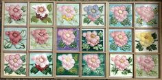 Peranakan rose tiles found at a demolished house.