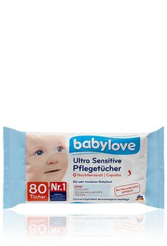 babylove Ultra Sensitive Pflegetücher Inci verdissimo, salviettine in pile