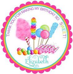 Invitaciones Candy Circus Sweet Shop por LittlebeaneBoutique