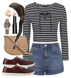 """""""Spencer Hastings inspired outfit"""" by liarsstyle ❤ liked on Polyvore featuring Topshop, Forever 21, T-shirt & Jeans, Decree and Bobbi Brown Cosmetics"""